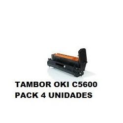 OKI TAMBOR PACK 4 C5600